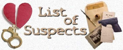 List of possible suspects