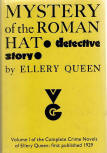 Mystery of the Roman Hat - Its reissue in 1969 represents a remarkable numerical concatenation:it is 40 years since the book was first published; now reissued on the same date as ellery queen's 40th novel, Cop Out, is published - Victor Gollancz Ltd