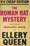 The Roman Hat Mystery - stofkaft  Gollancz-Triangle herdruk 1948