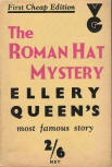 The Roman Hat Mystery - dustcover Gollancz Re-set January 1935 [5th Gollancz issue]