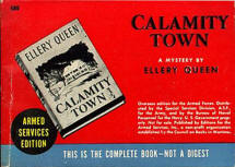 Calamity Town - Armed Service Edition Book # 680 issued to service men in WWII.