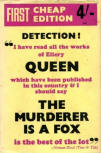 The Murderer is a Fox - kaft Victor Gollancy Ltd of London,1948