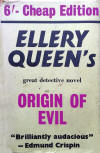 The Origin of Evil - kaft Victor Gollancz, Ltd., 2nd edition, Londen 1953