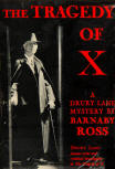 The Tragedy of X - stofkaft Barnaby Ross uitgave Grosset & Dunlap