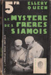 Le myst�re des fr�res Siamois - French cover