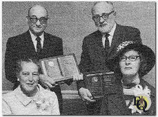 The Dannays and the Lees at an awards ceremony in 1968.