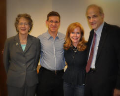 (From L to R): Mrs. Dannay, Matthew Levay, Shelly Dickson Carr, Richard Dannay