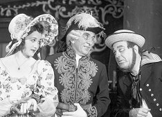 "Margaret Roy, Florenz Ames, and Robert Pitkin in the Gilbert and Sullivan operetta ""The Pirates of Penzance"" (1943)."