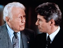 "Ralph Bellamy opposite Richard Gere in ""Pretty Woman"" (1990)."