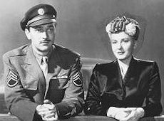"Jean Arthur and Lee Bowman in ""Impatient Years"" (1944) showing the reality behind wartime marriages..."