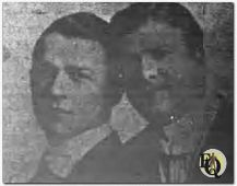(From L to R) Burke and Harris. Upon advice of Max Winslow he formed a vaudeville act called Burke & Harris. Described as two cabaret singers, who sang pop songs with a couple of character numbers added. They looked well en also did well. (1915)