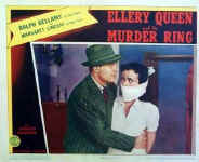 Ellery Queen and the Murder Ring - lobbykaart D