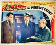 Ellery Queen and the Perfect Crime - lobbycard (Ellery, Velie and Inspector Queen)