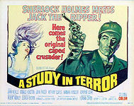 A Study in Terror - 11x14 inch lobby card title card