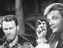 "Richard Coogan and Roger Moore in ""Maverick"" ""Thunder from the North"", November 13, 1960"