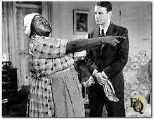Hattie McDaniel and Lew Ayres  in 'The Crime Nobody Saw'