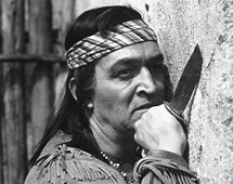 One of many times Ted de Corsia was called upon to play Chief or 'Indian' here in New Mexico (1951)