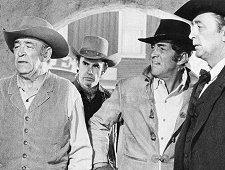 "Ted de Corsia (left) with Dean Martin and Robert Mitchum in ""Five Card Stud"" 1968"