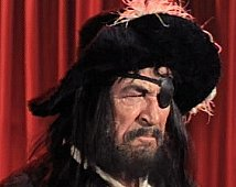 "In an episode of The Monkees' second season in 1968 Ted de Corsia appeared in ""The Devil and Peter Tork"" as Blackbeard."