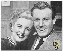"Richard with Jan Sterling on the Playbill for ""John Loves Mary"", The Harris Theatre, Chicago, August 1948."