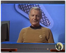 "Richard Derr as Admiral Fitzgerald ""on screen"" in Star Trek's ""The Mark of Gideon""."