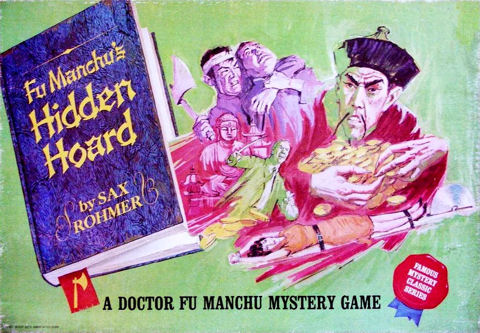 Fu Manchu's Hidden Hoard (1967) Cover Ideal Board Game