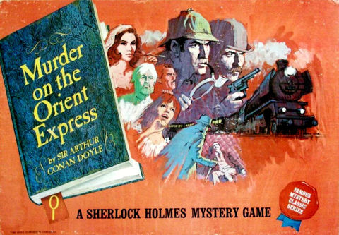 Sherlock Holmes (!) in  Murder on the Orient Express (1967) Cover Ideal Board Game