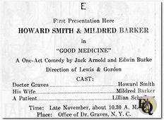 "Sep 1922 add for Howard Smith & Mildred Barker's ""Good Medicine"""