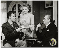 """Dear Ruth"" (1946-1947) with John Dall as Lt. William Seawright, Phyllis Povah as Mrs. Edith Wilkins and Howard Smith as Judge Harry Wilkins"