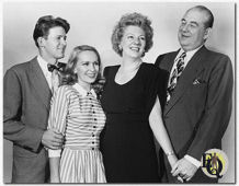 The Magic Touch (1947) From L to R: William Terry as Jeff Turner, Sara Anderson as Cathy Turner, Frances Comstock as Amy Thompson and Howard Smith as J. L. Thompson. The production opened September 3rd, 1947 and closed after only twelve performances.
