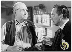 "Howard Smith (L) with Fredric March in ""Death of a Salesman"" (1951)"