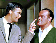 "Jim Hutton and Bob Hope in ""Bachelor in Paradise"" (1961)."