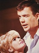 "Jim Hutton with an adoring Connie Stevens in ""Never Too Late"" (1965)."