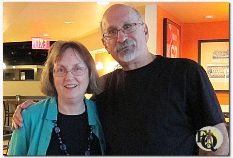So I've at least got one photo of me with an EQMM editor, and I'm happy to share it with you here. (Janet's the pretty one. I'm the other one.)
