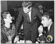 1960, Patricia Kennedy, her brother John F. Kennedy and Peter Lawford