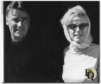 Marilyn Monroe and Peter Lawford at the Cal Neva Lodge, July 29, 1962.
