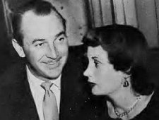 Lee Bowman with his wife Helen Rosson in the Stork Club (1955).