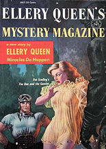 Ellery Queen's Mystery Magazine july 1957 Newsstand editions