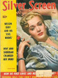 "Cover ""Silver Screen"" edition of May 1942 with a fictionalized version of ""A Desperate Chance for Ellery Queen""."