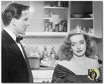 "Marlowe with Bette Davies in ""All About Eve"" (1950)."