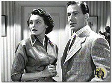 "With Patricia O'Neal in ""The Day the Earth Stood Still"" (1951)."