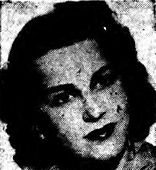 "1946 Newspaper clipping: ""Veteran actress plays role of 'Nikki Porter', on the Ellery Queen mystery..."""
