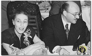"Hilda and Fred Dannay at ""The Edgars"" (1950s)"