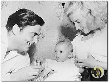 Richard Hart with Louise Valery and daughter
