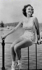 Margaret Lindsay supposedly vacationing at Lake Arrowhead