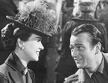 "John Wayne and Margaret Lindsay in ""The Spoilers""  (1942)"