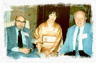 Fred Dannay, Japanse mystery writer Shizuko Natsuki and Edward D.Hoch at the 3rd Crime Writers International Congress in Stockholm, Sweden, in June 1981. Photo Courtesy Edward D.Hoch