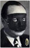 "Manfred B. Lee as masked ""Ellery Queen"" as he also appeared on the front cover of an ""The American Gun Mystery""..."