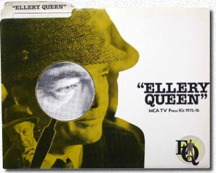 """Ellery Queen"" MCA TV press Kitt 1975-76"