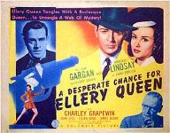 A Desperate Chance for Ellery Queen - half-sheet poster